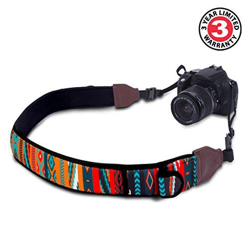 Premium Kameragurt Strap / Kamerariemen Schultergurt / Trageriemen Nacken Kameragurt für DSLR Spiegelreflexkamera wie Canon EOS 1300D 750D 700D 80D Nikon D5300 D3300 D7200 D5500 D500 D750 und mehr - 2