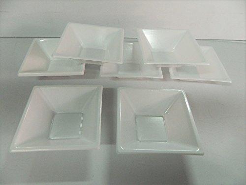 Lot De 24 Coupelles Jetable En Plastique blanche Coupelle Bol 11,7x11,7cm Verrine