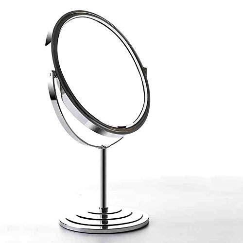 Gwo specchio per il trucco del desktop spaire verticale bifacciale da 8 pollici ordinario e 3 volte ingrandente 2 in 1 specchio girevole a 360 °