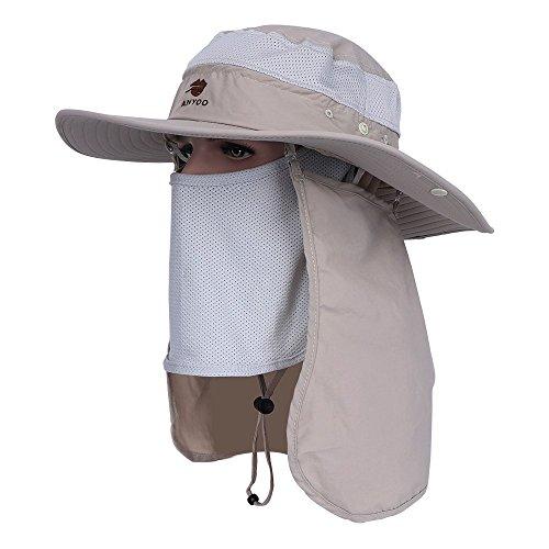Anyoo Casquette de Protection Anti-UV à Rabat pour l'extérieur, Casquette de Pêche à Large Bord, Casquette de Chasse, Randonnée en Bateau pour Hommes et Femmes