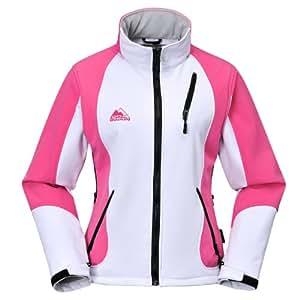 COX SWAIN TITANIUM 3-Lagen Damen Softshell Jacke FOREST - 15.000mm Wassersäule 10.000mm atmungsaktiv, Farbe: White/Pink, Größe: M
