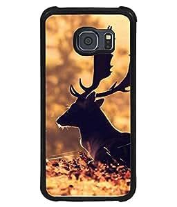 PrintVisa Designer Back Case Cover for Samsung Galaxy S6 G920I, Samsung Galaxy S6 G9200 G9208 G9208/Ss G9209 G920A G920F G920Fd G920S G920T (Hunting Sunlight Wildlife Autumn Woodland Hunting Beautiful Morning)