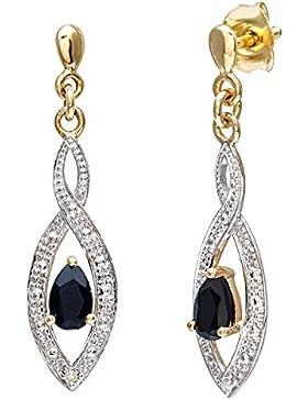 Naava Damen-Ohrhänger 9 K 375 Gelbgold Diamant