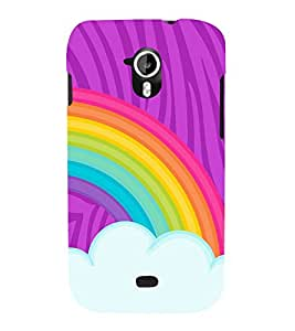 Rainbow Sky Art 3D Hard Polycarbonate Designer Back Case Cover for Micromax Canvas HD A116 :: Micromax Canvas HD Plus A116Q