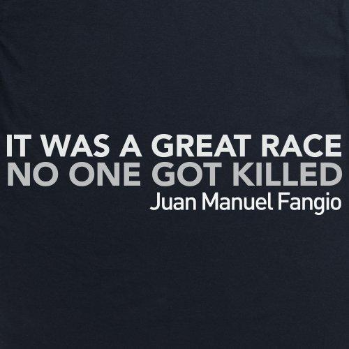 It Was a Great Race T-Shirt, Herren Schwarz