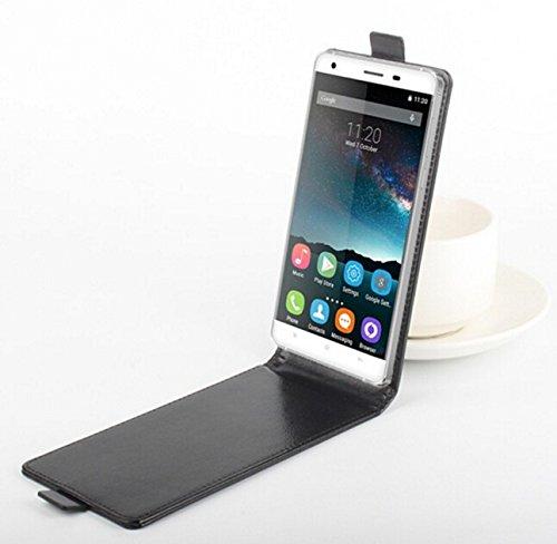 Prevoa Funda para M-Net Power 1 - Flip PU Funda Case Protictive para M-Net Power 1 Smartphone - (Negro-)