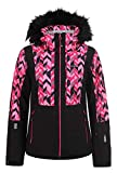 Icepeak Damen Skijacke Nancy, schwarz/pink, Gr. 40
