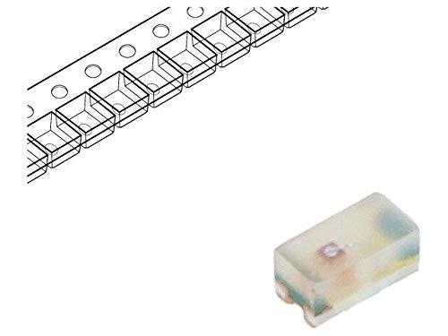 8x HSMS-C280 LED SMD 0402 red 2.8-10mcd 1x0.5x0.4mm 130° 2.1÷2.6V 20mA
