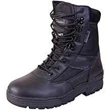 Mens Combat Military Black Army Patrol Hiking Cadet Work High Leather Boot UK 3-13