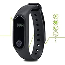 UIMI Bingo M2 Water Proof Smart Band Compatible with Bluetooth or Heart Rate Sensor and Sweat Free