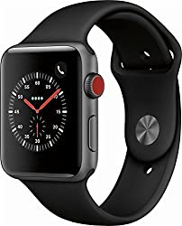 Apple Watch Series 3 (42mm) Space Grey Aluminium Watch Case 16gb Gps + Cellular With Black Sport Band