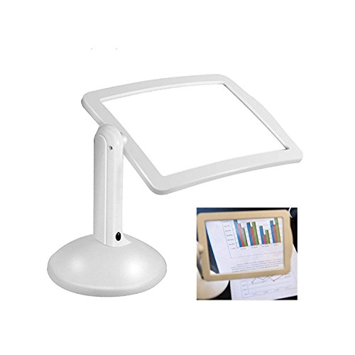 LED-Lupe, Heller Betrachter, 360-Grad-Drehung Auf Dem Stand, 3X Leselupe Desktop Ganz Seite...