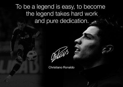 Motivational–Ronaldo 26–Real Madrid–Fußball Legende–inspirierendes Zitat Print Sign Poster mit gedrucktem Autogramm. Print–Bild–Poster - Inspirierende Fußball