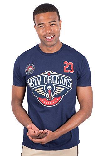 Unk NBA Anthony Davis New Orleans Pelikane Herren T-Shirt Short Sleeve Tee Shirt, Herren, DTM5419S-NPAD-Large, navy, Large