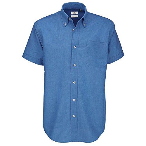 B&C - Camisa manga corta Modelo Oxford Tallas grandes