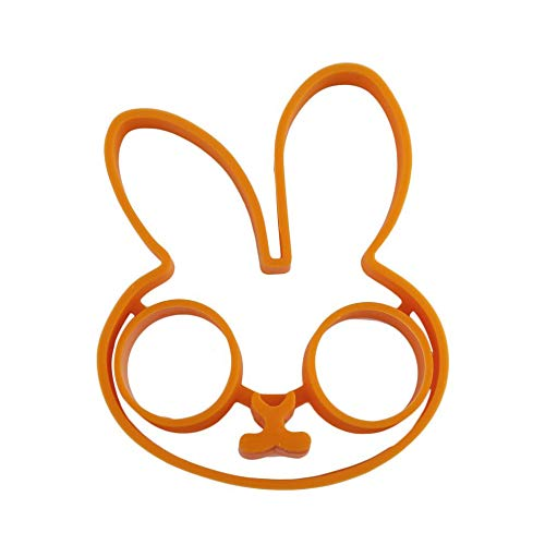 Orange Breakfast Silicone Rabbit Fried Egg Mold Pancake Ring Shaper Cooking  Tools Kitchen Gadgets Kid Gift Stock Offer - Orange