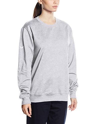 Trigema Damen, Sweat-Shirt Mixte gris (hellgrau-melange 110)