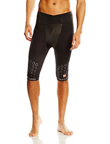 Compressport Trail Running Short V2 Pantalone Compressivo da Gara, Nero, 3