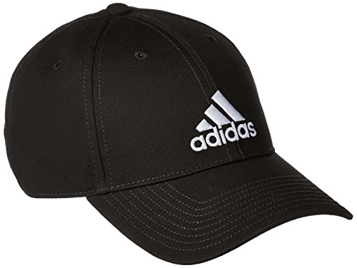 adidas 6 Panel Kappe, Black/White, OSFM