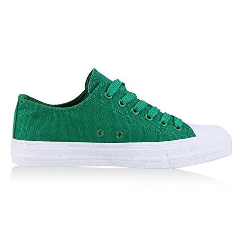 Sneakers best-boots da donna scarpe da ginnastica atletica scarpe Cords Slipper Grün Neu Nuovo