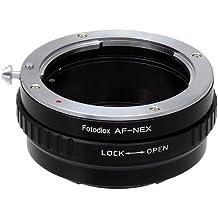 Fotodiox SONY-A-NEX cable para cámara fotográfica, adaptador - Adaptador para objetivo fotográfico (Negro, Metal, Sony Alpha a7, a7r, NEX-3, NEX-5, NEX-C3, NEX-5N, NEX-7, NEX-F3, NEX-5R, NEX-6, NEX-VG10, NEX-VG20,)