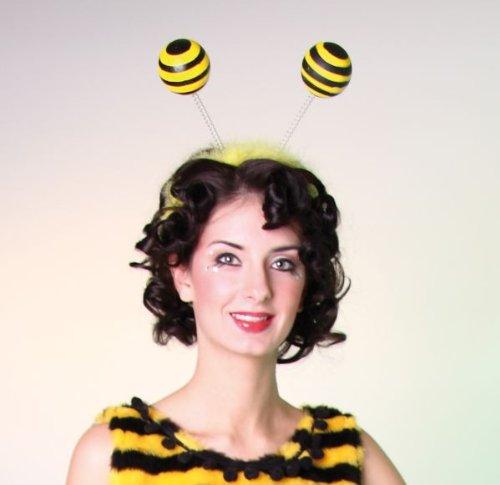 Kopfbügel mit Bienenfühlern Haarreif Biene Neu Karneval