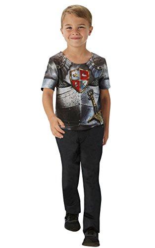 Ritter T-Shirt - Kinder Kostüm - Groß - 128cm - Alter ()