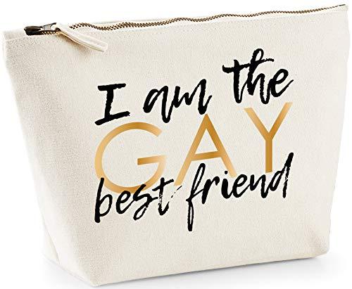 Hippowarehouse I Am The Gay Best Friend Bolsa de Lavado cosmética Maquillaje Impreso 18x19x9cm