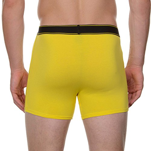 Bruno Banani Herren Pants Short 2er Pack Comic, 2er Pack Gelb (gelb print// Gelb 2145)