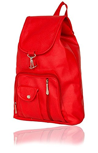 Taps Fashion Women's Backpack Handbag Red (BP-9)  available at amazon for Rs.299