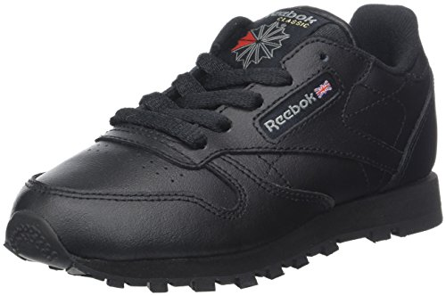 Reebok Classic Leather, Scarpe da Trail Running Bambino, Nero (Black/1 000), 30.5 EU
