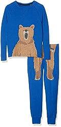 Tom Joule Jungen Kipwell Zweiteiliger Schlafanzug, Blau (Dazzling Blue Dazzblu), 122 (Herstellergröße: 7-8)