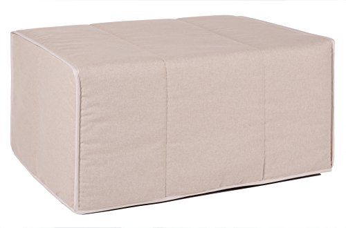 Quality Mobles - Cama Plegable individual de 80x180 cm funda color arena