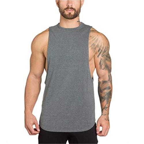 Camisetas Hombre Sin Manga Verano Camisa Color Sólido Casuales...