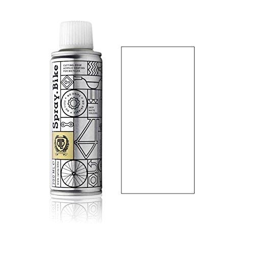 Fahrrad Lackspray - für detailreiche Arbeiten wie Linien, Schablonen oder kleine Bereiche - POCKET SOLID Kollektion in der praktischen 200ml Dose (Weiß) (Der Qualität Die Handschuh Arbeit)
