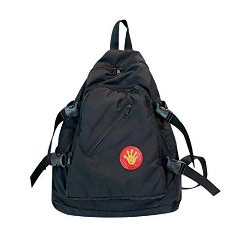 UI Leisure Solid Backpack Wasserdicht Reiserucksack Outdoor Wanderrucksacke jugendliche mädchen Rucksack Nylon Schultasche (Schwarz) (Notebook-rucksack North Face Rosa)