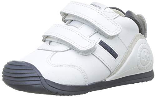 Biomecanics 151157, Zapatos de primeros pasos Unisex Bebés, Blanco Blanco/Azul/Sauvage, 19 EU