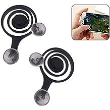 UKCOCO 2 Pcs Móvil Juego Joystick Teléfono Juego Rocker Pantalla táctil Joypad Tablet Funny Game Controller para teléfono o almohadilla (negro)