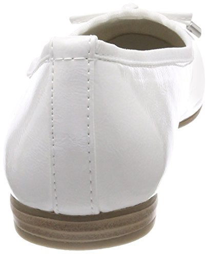 Marco Tozzi Damen 22137 Geschlossene Ballerinas weiß (white patent)