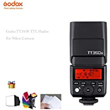 Godox Mini Speedlite TT350N Camera Flash TTL HSS GN36 For Nikon Mirrorless DSLR Camera