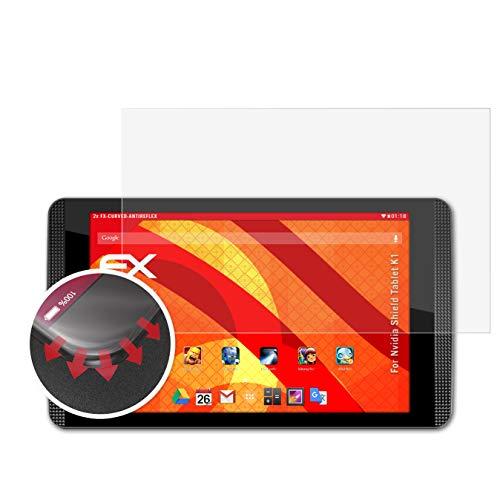 atFolix Schutzfolie passend für Nvidia Shield Tablet K1 Folie, entspiegelnde & Flexible FX Bildschirmschutzfolie (2X)