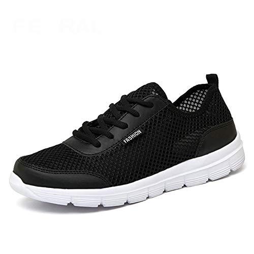 HOTSTREE 2019 New Unisex Shoes Comfortable Breathable Light Shoes Men & Woman Sneakers Plus Big Size 35~48 Black 5.5