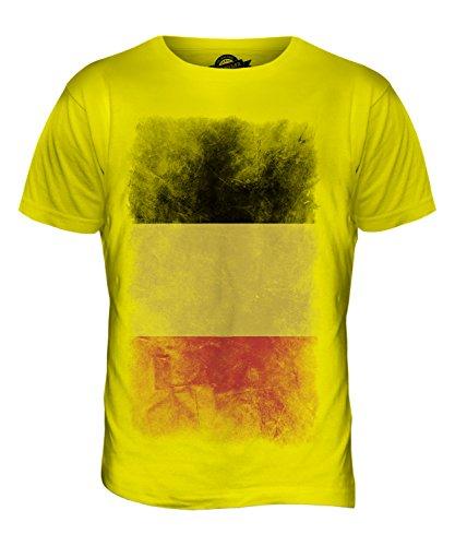 CandyMix Belgien Verblichen Flagge Herren T Shirt Zitronengelb