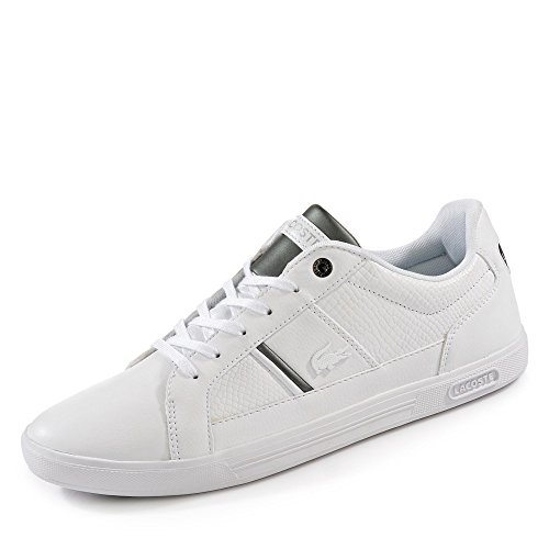 Lacoste Sneaker in Übergrößen Weiß 7-34SPM0044001 große Herrenschuhe, Größe:48