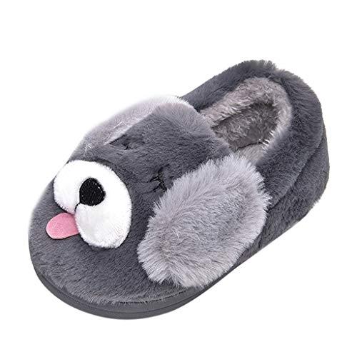 371950a81a50a Chaussons Enfant Unisex Hiver Chaud Pantoufles Fille Garçon Cartoon Chien  Animaux Slippers Bébé Chaussures Maison Intérieures