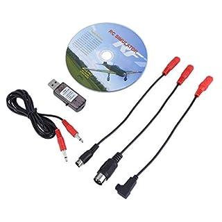 TOOGOO 22 In 1 Rc USB Flug Simulator Kabel für Wirklicher Flug G7 / G6 / G5 Phoenix 4 E2Hg Sm