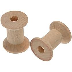 Brovy - 10 bobinas de madera para hilo, 29 x 23mm