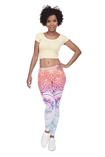 Chill Skill Women's 3D Printing Leggings Regular Party Casual Stretchy Tights Fits UK 8 /10 /12
