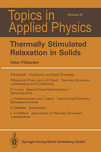 Thermally Stimulated Relaxation in Solids (Topics in Applied Physics)