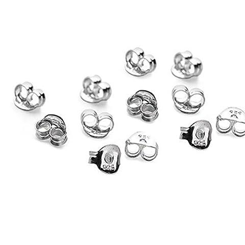 15x paires (30) en argent sterling papillon Boucle d'oreille rouleaux